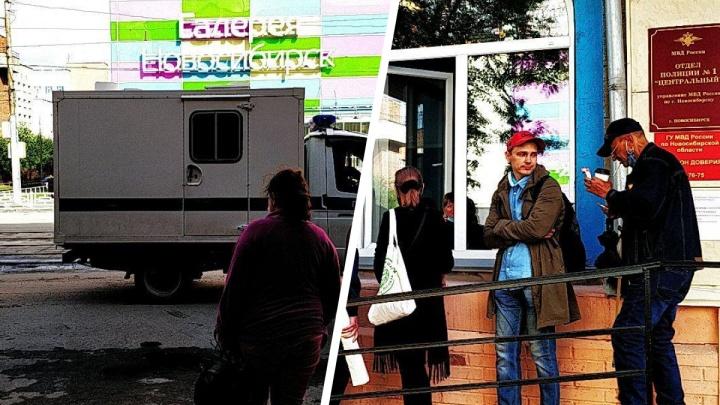 После акции в поддержку Фургала в Новосибирске задержали активистку — у отдела полиции собрался пикет