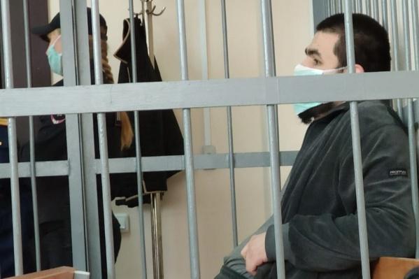Яков Сафиуллин в Орджоникидзевском районном суде во время вынесения ему меры пресечения
