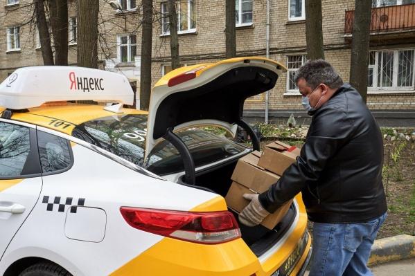 Водителю сервиса Яндекс Go нужно всего 5–7 минут, чтобы забрать груз и отправить его к получателю