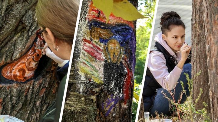 «Крик», совы и ящерицы: экологическая акция «Живая галерея» прошла в парке «Дубки»