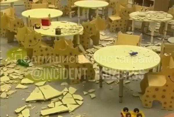 В Кемерово рухнул потолок в детском саду. Его открыли всего 6 дней назад