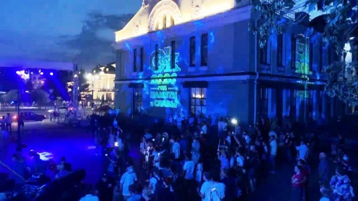 У Музея Врубеля началось световое шоу