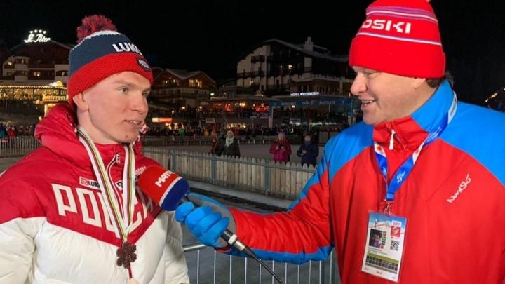 Лыжник Александр Большунов стал первым российским обладателем Кубка мира