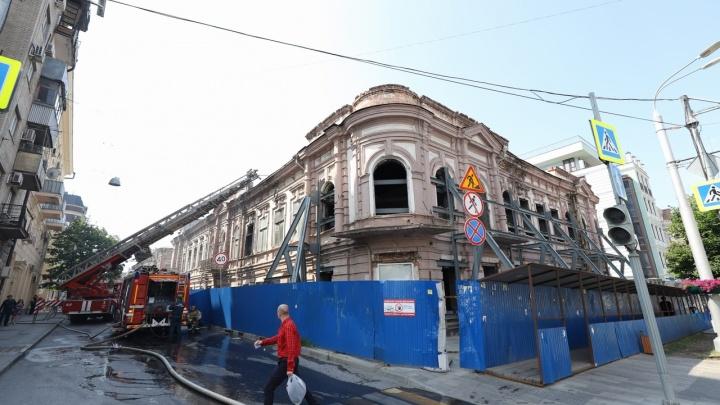 В центре Ростова загорелось здание газеты «Приазовский край»