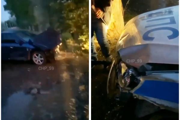 Оба автомобиля повреждены