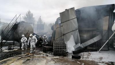 В промзоне Сормова горели ёмкости с дизельным топливом