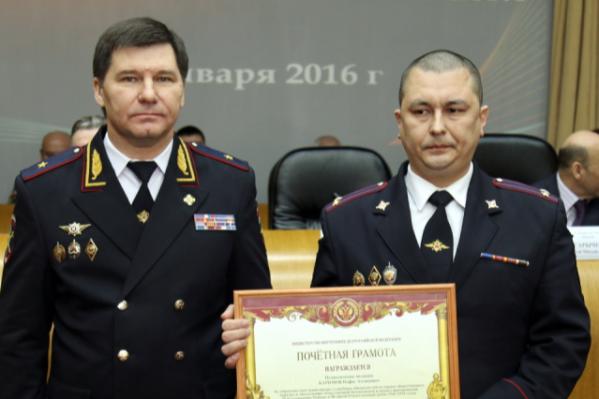 Бывший начальник полиции Тюменской области Юрий Алтынов (слева) и Нафис Каримов (справа)