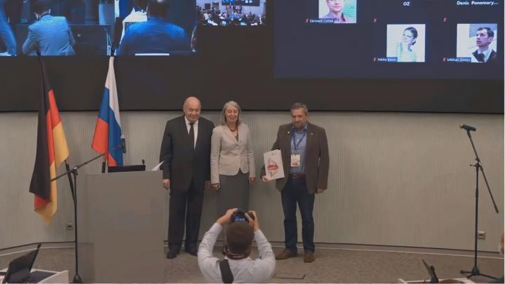 Ученым СибГУ вручили диплом за победу в конкурсе «Россия и Германия: научно-образовательные мосты»