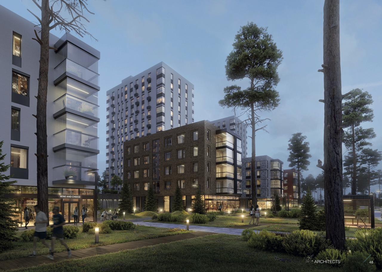 Предлагается разная этажность, самые маленькие дома — в пять этажей
