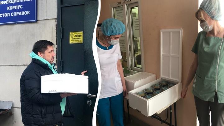 Челябинские рестораторы начали кормить врачей «инфекционки», где лечат пациентов с коронавирусом