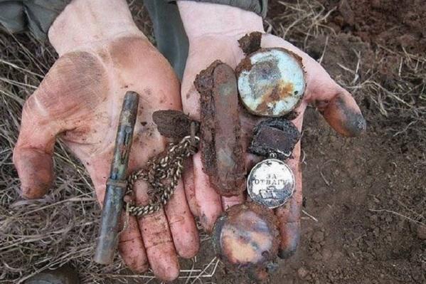 Останки бойца и его вещи обнаружили в Ленинградской области