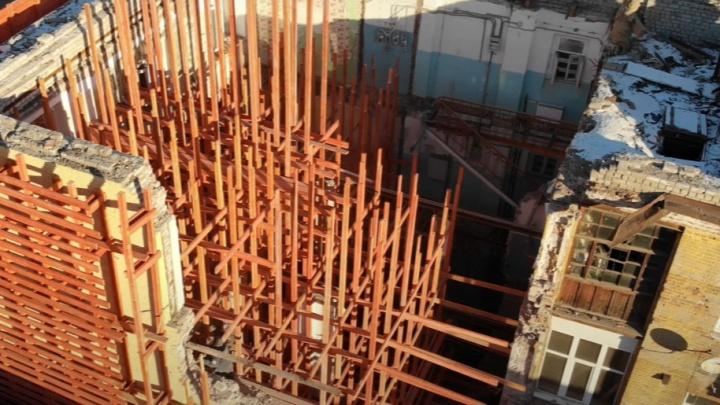 Строят почти заново: в Самаре начали реконструкцию дома на Галактионовской