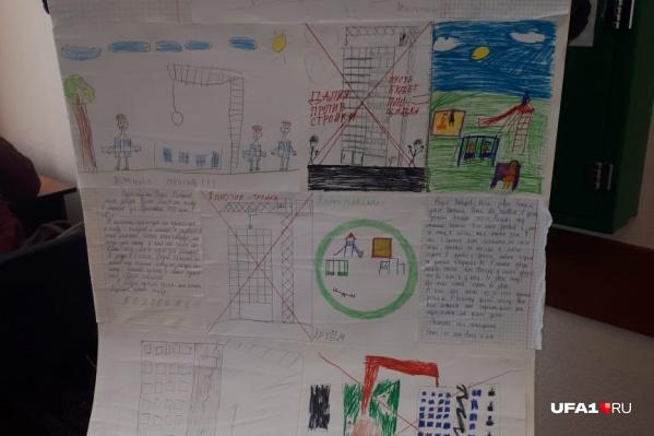 Дети нарисовали дом и стройку по соседству