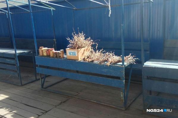 Несмотря на самоизоляцию, бабушки в Красноярске продают с лотков вербу