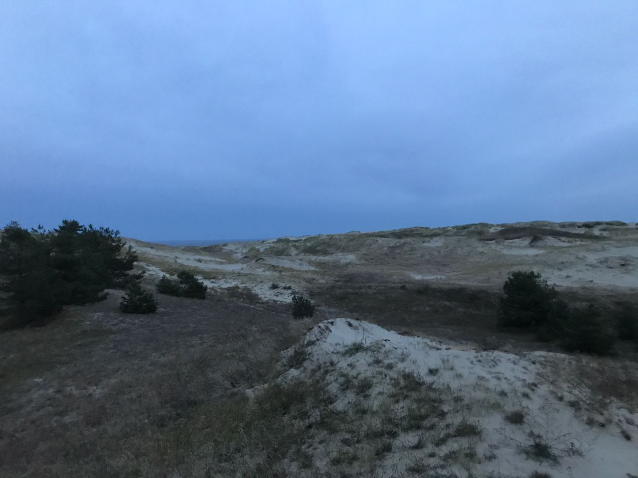 Дюны на высоте Эфа. Ходить по ним строго запрещено