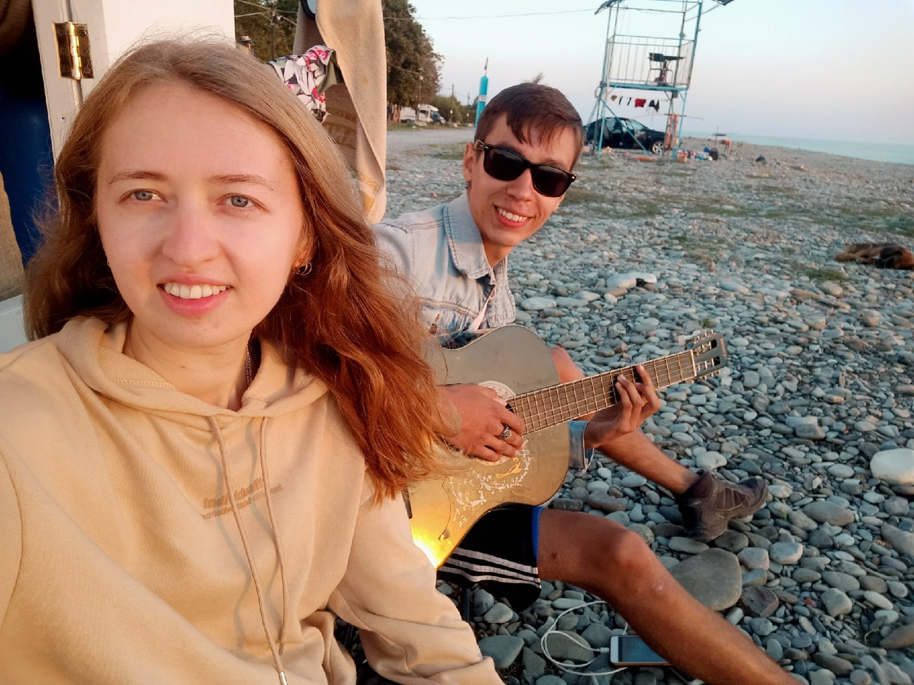 Сейчас Сергей и Дарья на берегу Черного моря