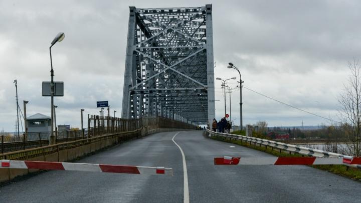 В понедельник Северодвинский мост вновь закроют из-за ремонта почти на сутки