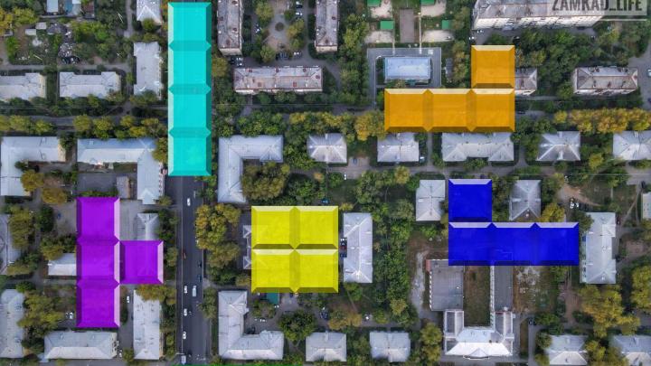Геометрия Екатеринбурга: ищите свои дома с высоты птичьего полета