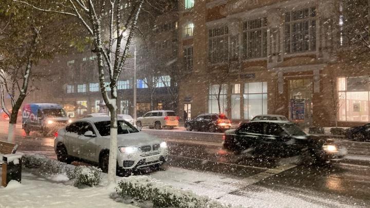 Снегопад в Ростове только усилится — администрация