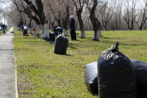 Месячник по санитарной очистке города в Кургане стартовал с 1 сентября