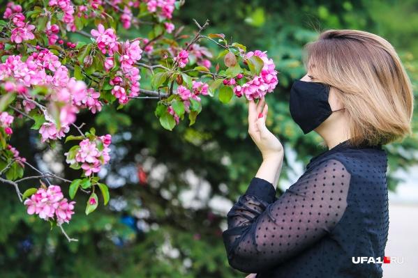 Маска не преграда, чтобы ощутить непередаваемый аромат весны