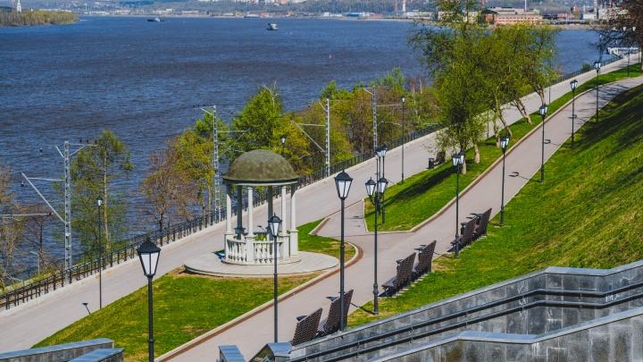 На набережной Перми будут следить за числом посетителей. Если их будет много — прогулки запретят