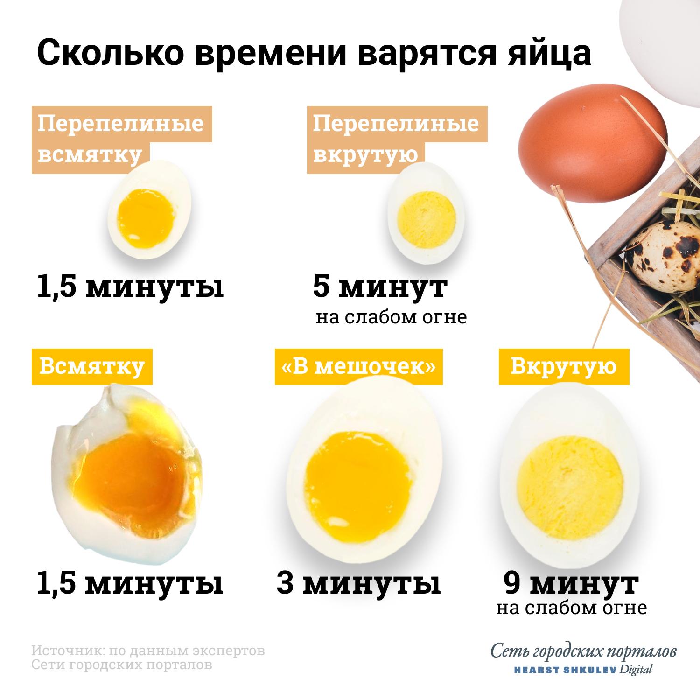 Максимум для варки яиц — 9 минут