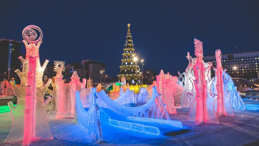 В Перми ледовый городок «Легенды древней Пармы» закроют 1 марта