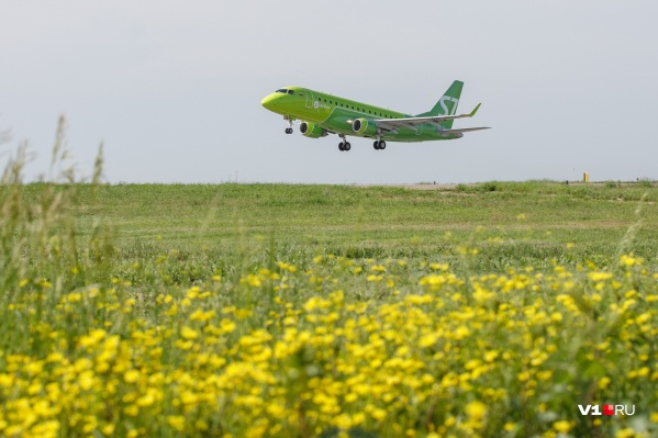 Лайнер из Новосибирска прилетел в Волгоград рано утром