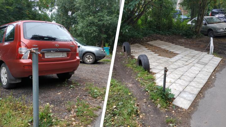 «Личные» стоянки в Архангельске: как быть, если соседи облюбовали себе уютное местечко для машины