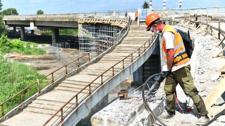 Трещины на опорах: в Ярославле открытие Добрынинского моста откладывается. Опять