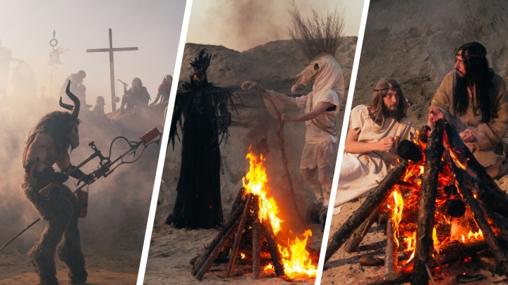 Екатеринбургский фотограф создал в Березовских Песках мир с чудовищами и тремя Иисусами