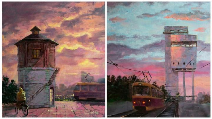 Ванильное небо: уральская художница изобразила Екатеринбург, которого вы еще не видели