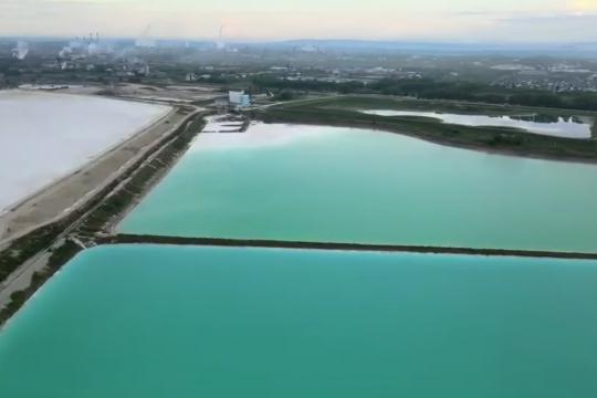 Размер бассейнов для отходов впечатляет