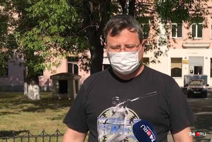 Сергей Яковлев работает в «красной зоне» областной клинической больницы № 2