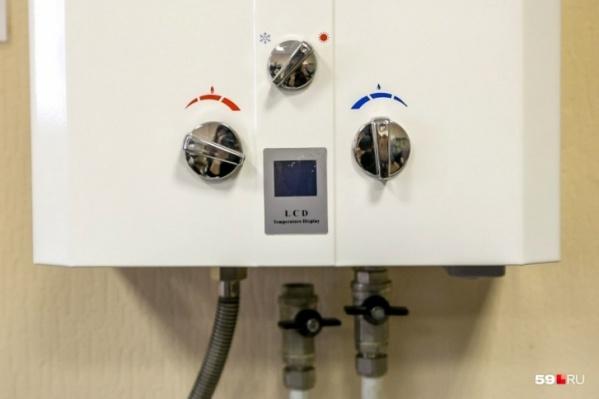 Это довольно простой газовый водонагреватель