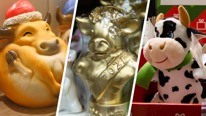 Стадо быков на полках: оцените символы года, которые уже продают в магазинах Архангельска