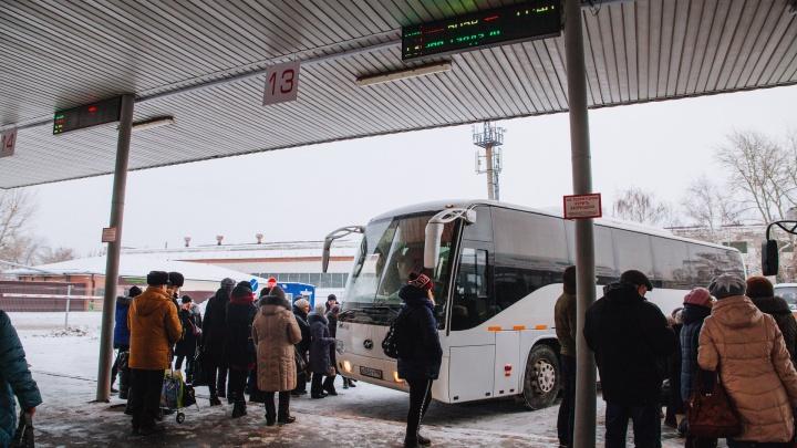 В Тюмени из-за сильного снега отменили автобусные рейсы в соседние города и Казахстан