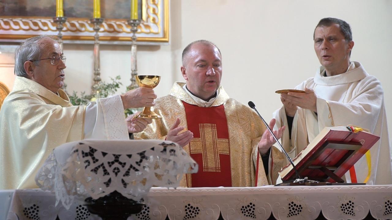 Богослужение Навечерия Пасхи в церкви Лурдской Богоматери.&nbsp;<br>