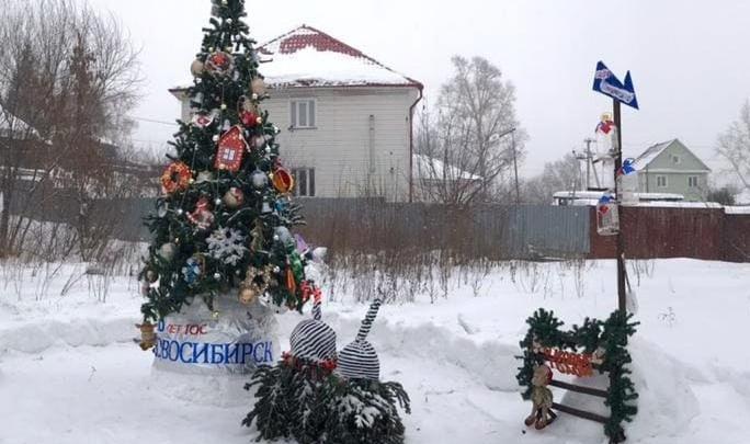 Активисты ТОС поздравляют новосибирцев с Новым годом и Рождеством
