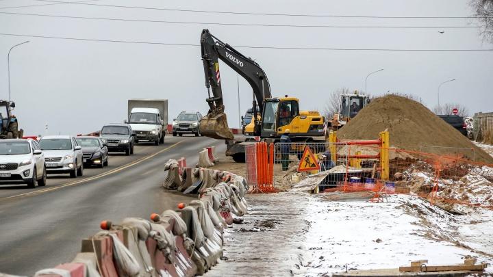 Пробки больше нет? Репортаж NN.RU с места строительства развязки в Ольгино