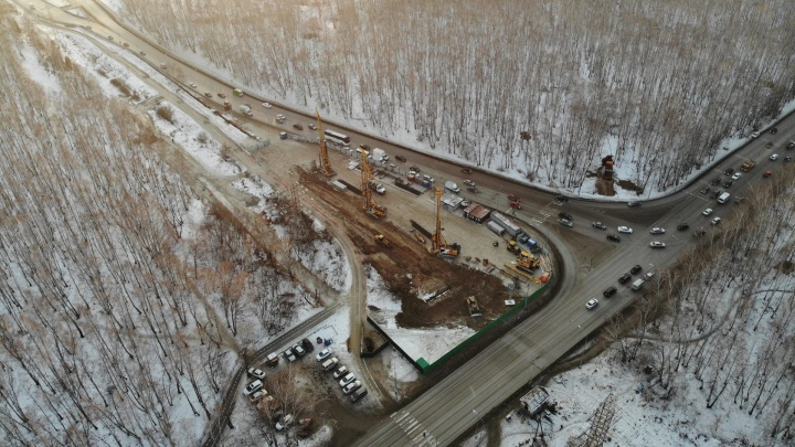 У Гагаринского парка начали строить развязку, против которой выступали жители