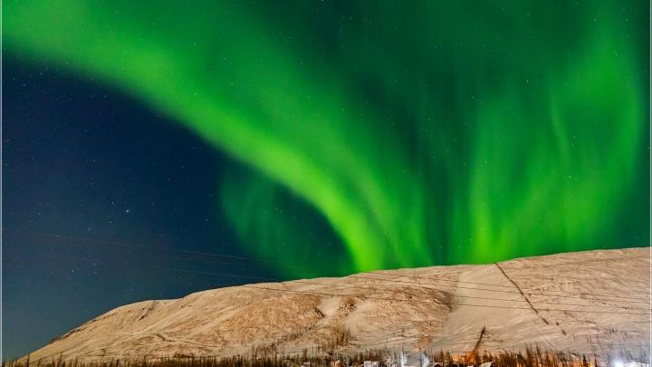 В Норильске начался сезон северного сияния