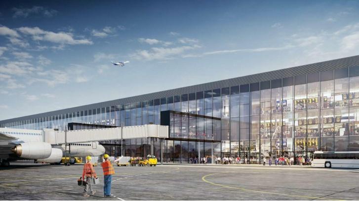 Со стороны перрона фасад терминала тоже будет прозрачным