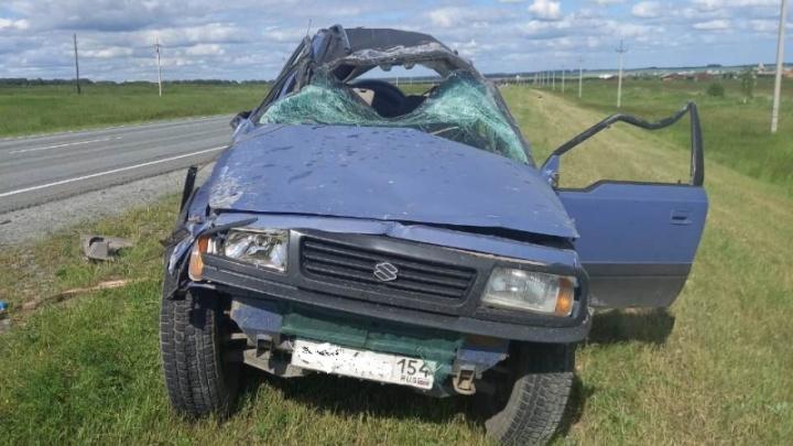 Смертельное падение в кювет: в Тогучинском районе погиб водитель иномарки