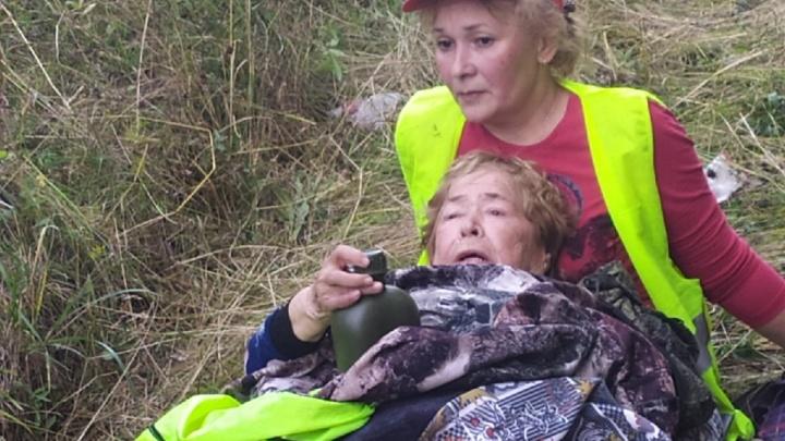 Волонтеры поисковых отрядов нашли в лесу 81-летнюю женщину, пропавшую 3 дня назад