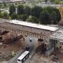 В Тольятти на М-5 автомобили пустили под строящимся путепроводом