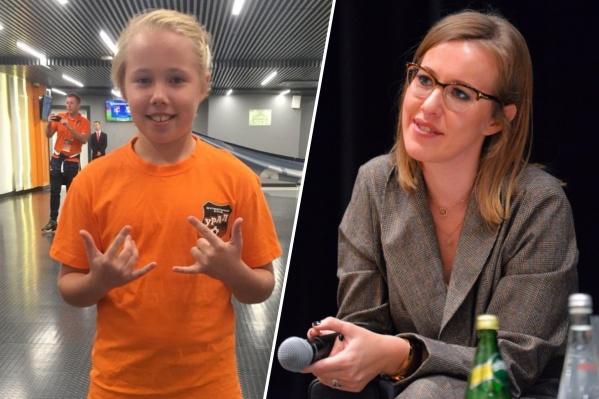 Девочку также поддержалиблогер Александра Митрошина и фотомодель Елена Перминова