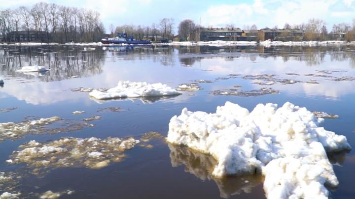 В Архангельске ледоход завершится к 8 мая