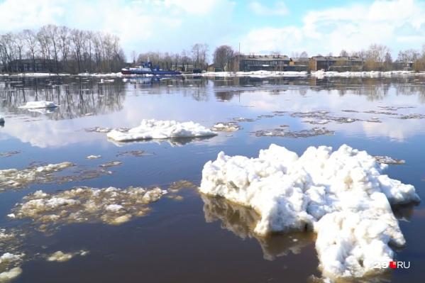 Лед уйдет из рукавов Северной Двины к 7–8 мая